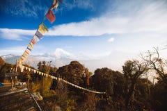 Βουνά περιοχής Annapurna στα Ιμαλάια του Νεπάλ Στοκ φωτογραφίες με δικαίωμα ελεύθερης χρήσης