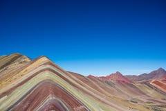 Βουνά Περού ουράνιων τόξων Στοκ εικόνα με δικαίωμα ελεύθερης χρήσης