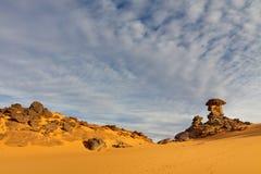 βουνά Σαχάρα της Λιβύης akakus Στοκ εικόνα με δικαίωμα ελεύθερης χρήσης