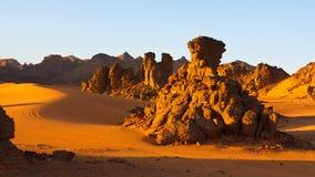 βουνά Σαχάρα της Λιβύης akakus acacus Στοκ φωτογραφίες με δικαίωμα ελεύθερης χρήσης