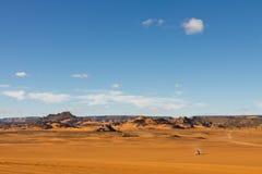 βουνά Σαχάρα της Λιβύης akakus acacus Στοκ Εικόνες