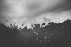 Βουνά σε Machu Pichu στοκ εικόνα