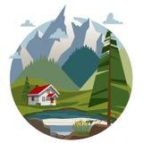 βουνά σπιτιών ελεύθερη απεικόνιση δικαιώματος