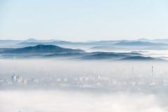 Βουνά στον ορίζοντα Στοκ Φωτογραφία