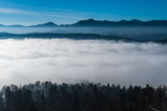 Βουνά στον ορίζοντα Στοκ Εικόνα