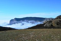 Βουνά στο βράχο στοκ εικόνα