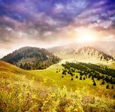 Βουνά στο Καζακστάν Στοκ φωτογραφία με δικαίωμα ελεύθερης χρήσης
