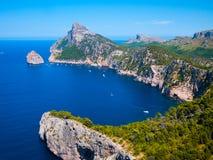 Βουνά στο formentor, Ισπανία στοκ φωτογραφία με δικαίωμα ελεύθερης χρήσης