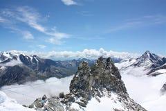 βουνά της Αυστρίας hintertux Στοκ Εικόνες
