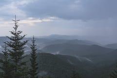 Βουνά της βόρειας Καρολίνας του Άσβιλλ Στοκ φωτογραφία με δικαίωμα ελεύθερης χρήσης