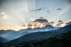 βουνά της Γεωργίας Στοκ φωτογραφία με δικαίωμα ελεύθερης χρήσης