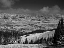 Βουνά της Γιούτα σε γραπτό Στοκ Φωτογραφία