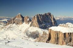βουνά της Ιταλίας δολομίτη Στοκ Εικόνες