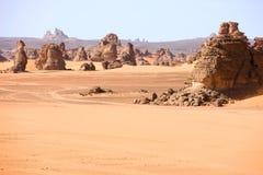 βουνά της Λιβύης akakus Στοκ Φωτογραφία