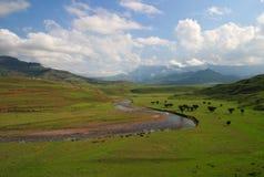 Βουνά της Νότιας Αφρικής Drakensberg Στοκ εικόνα με δικαίωμα ελεύθερης χρήσης
