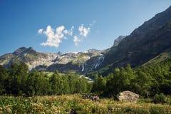 Βουνά της σειράς Arkhyz, λίμνη Καύκασου της Sofia, που αναρριχείται mou Στοκ Εικόνες