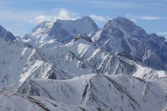 Βουνά της Τιέν Σαν το χειμώνα στο Κιργιστάν Στοκ εικόνες με δικαίωμα ελεύθερης χρήσης