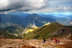 βουνά τοπίων θυελλώδη στοκ φωτογραφία