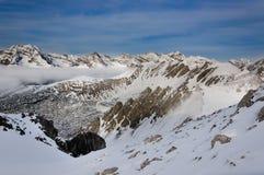 βουνά του Ίνσμπρουκ χιονώ Στοκ εικόνες με δικαίωμα ελεύθερης χρήσης