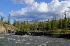 Βουνά του εθνικού πάρκου Ivvavik Στοκ Φωτογραφίες