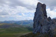 Βουνά του εθνικού πάρκου Ivvavik Στοκ Εικόνες