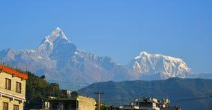 Βουνά του Ιμαλαίαυ, άποψη από Ghandruk, Νεπάλ Στοκ φωτογραφίες με δικαίωμα ελεύθερης χρήσης