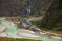 Βουνά του Ιμαλαίαυ στο Νεπάλ. Στοκ Εικόνες