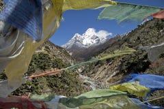 Βουνά του Ιμαλαίαυ στο Νεπάλ. Στοκ Φωτογραφίες