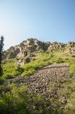 Βουνά του Καζακστάν, τα Τιέν Σαν shan tian βουνών ili alatau δια Υψηλό plat Στοκ Φωτογραφίες