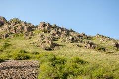 Βουνά του Καζακστάν, τα Τιέν Σαν shan tian βουνών ili alatau δια Υψηλό plat Στοκ φωτογραφία με δικαίωμα ελεύθερης χρήσης