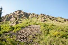 Βουνά του Καζακστάν, τα Τιέν Σαν shan tian βουνών ili alatau δια Υψηλό plat Στοκ φωτογραφίες με δικαίωμα ελεύθερης χρήσης