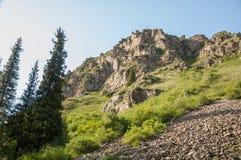 Βουνά του Καζακστάν, τα Τιέν Σαν shan tian βουνών ili alatau δια Υψηλό plat Στοκ Εικόνα