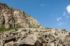 Βουνά του Καζακστάν, τα Τιέν Σαν shan tian βουνών ili alatau δια Υψηλό plat Στοκ Φωτογραφία
