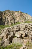 Βουνά του Καζακστάν, τα Τιέν Σαν shan tian βουνών ili alatau δια Υψηλό plat Στοκ εικόνες με δικαίωμα ελεύθερης χρήσης