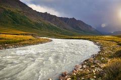 βουνά του Κιργιζιστάν Στοκ Εικόνες