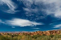 βουνά του Μαρόκου ατλάντ&om Στοκ Εικόνες