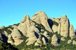 Βουνά του Μοντσερράτ, Καταλωνία, Ισπανία Στοκ εικόνες με δικαίωμα ελεύθερης χρήσης