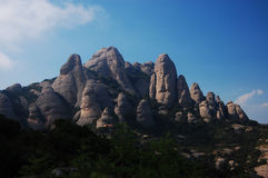 βουνά του Μοντσερράτ Στοκ φωτογραφία με δικαίωμα ελεύθερης χρήσης