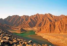 βουνά του Ντουμπάι ερήμων Στοκ Εικόνες