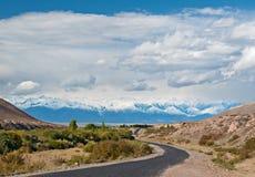 Βουνά του τοπίου του Θιβέτ Στοκ Φωτογραφίες