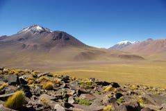 βουνά των Άνδεων Χιλή στοκ φωτογραφία