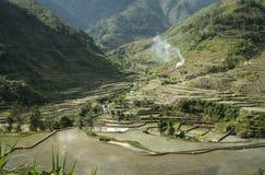 Βουνά Φιλιππίνες πεζουλιών ρυζιού banaue luzon Στοκ Εικόνες