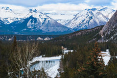 Βουνά Φύση Ξύλο Στοκ Εικόνες