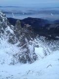 βουνά χιονώδη στοκ εικόνα
