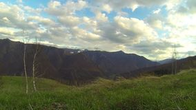 360 βουνά χρονικού σφάλματος pano απόθεμα βίντεο