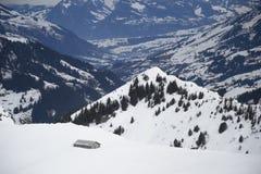 Βουνά Adelboden Στοκ εικόνα με δικαίωμα ελεύθερης χρήσης
