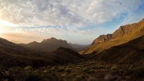 Βουνά Aldea στο νησί θλγραν θλθαναρηα απόθεμα βίντεο