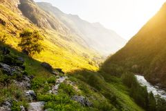 Βουνά Altai στην ανατολή, Σιβηρία, Ρωσία στοκ εικόνες
