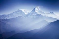 Βουνά Annapurna Στοκ εικόνες με δικαίωμα ελεύθερης χρήσης