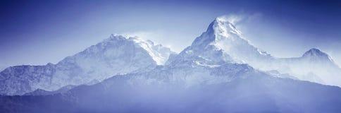 Βουνά Annapurna Στοκ Εικόνες